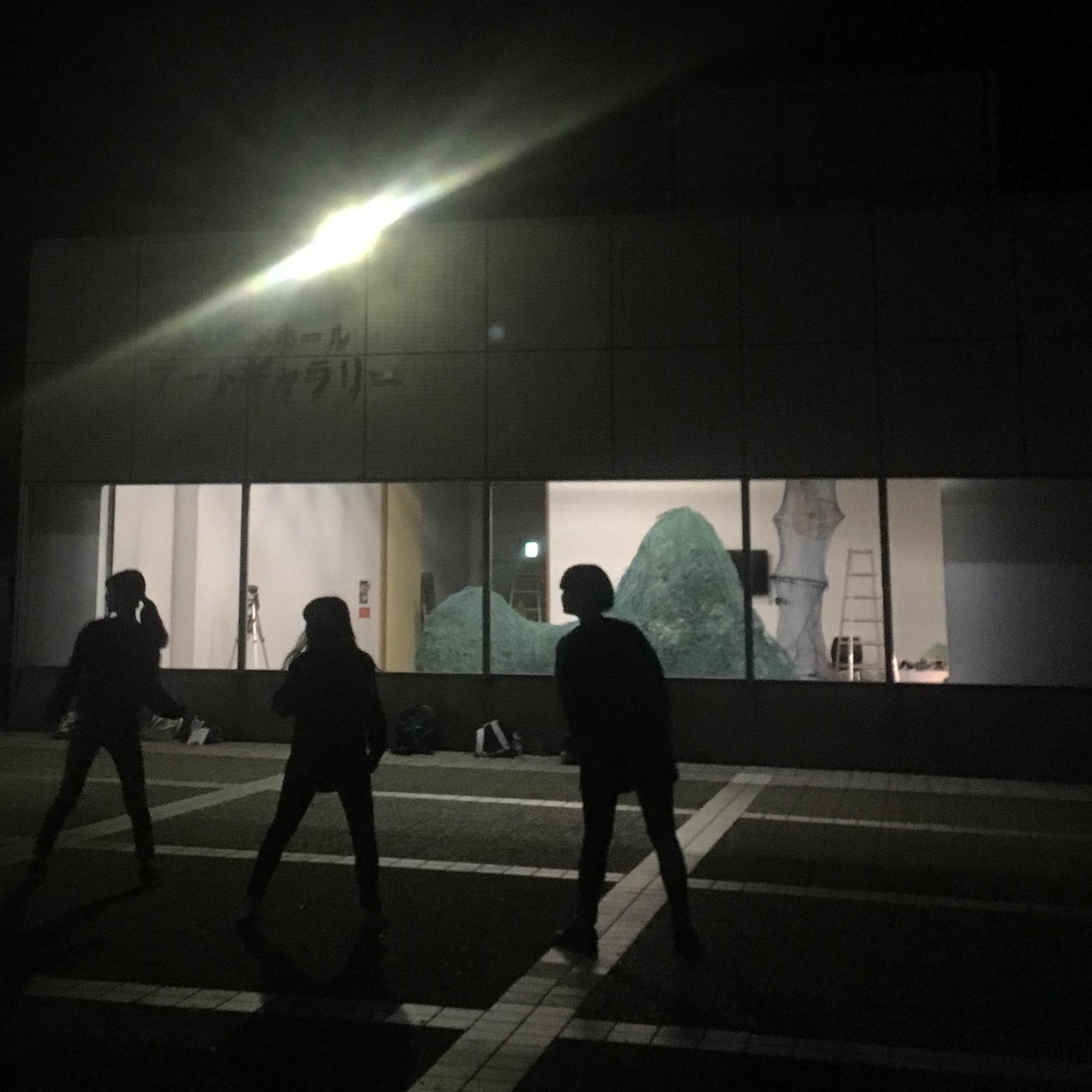 夜間ライトアップ「NORI MONOGATARIーUBEビエンナーレ・アーティスト・イン・レジデンス」