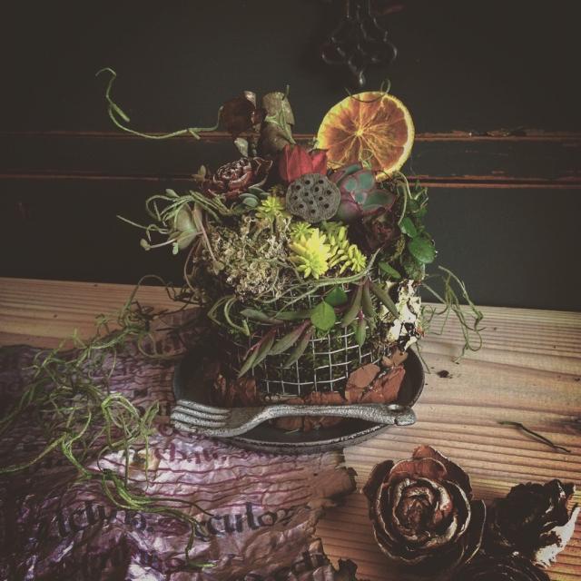 お花や多肉植物でケーキを作ろう!