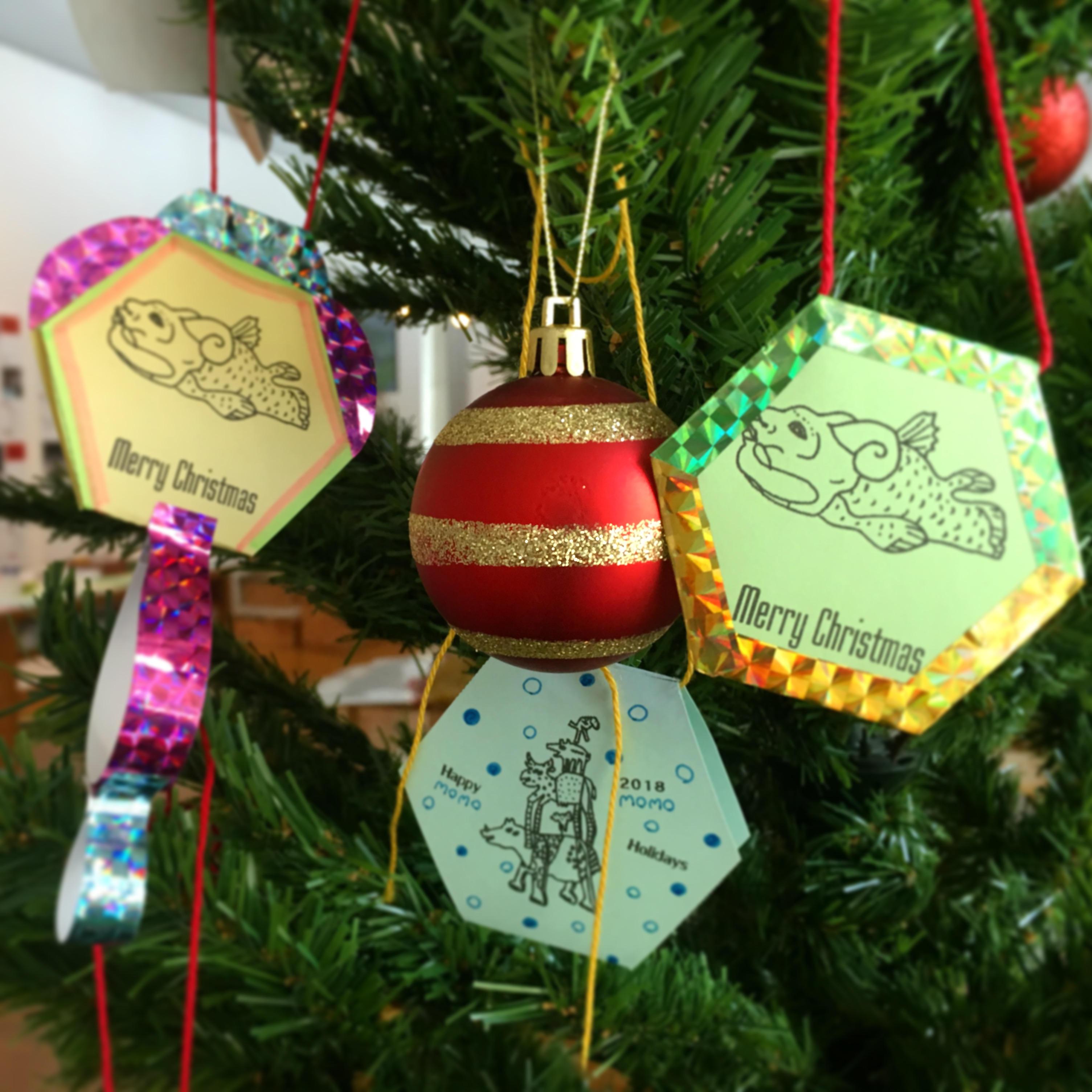 オーナメントをつくってクリスマスツリーにかざろう!