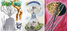 「描いちゃお!うべの彫刻2020」受賞者の決定と作品展示