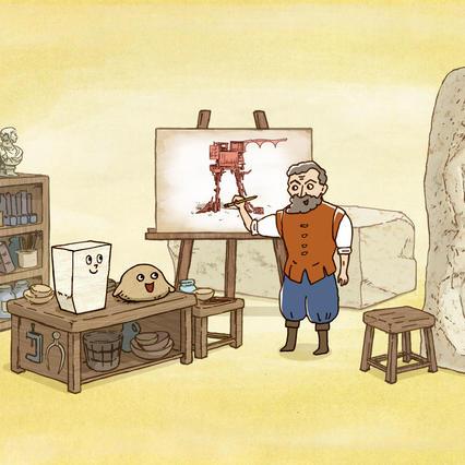 城井文アニメーション原画展 ネンドリアンとマーブルの彫刻ってなあに?