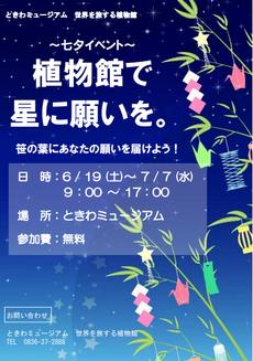 七夕イベント「植物館で星に願いを」