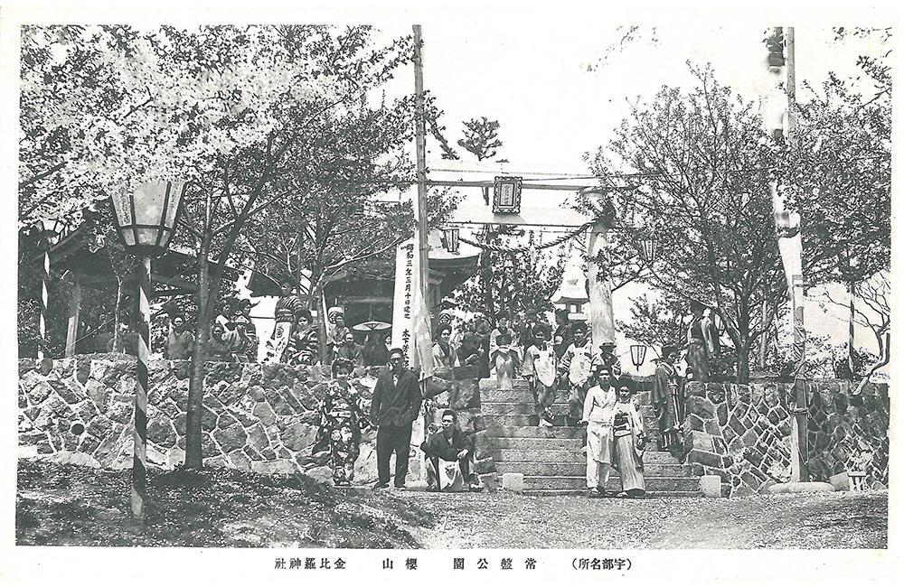 常盤公園 桜山 金比羅神社