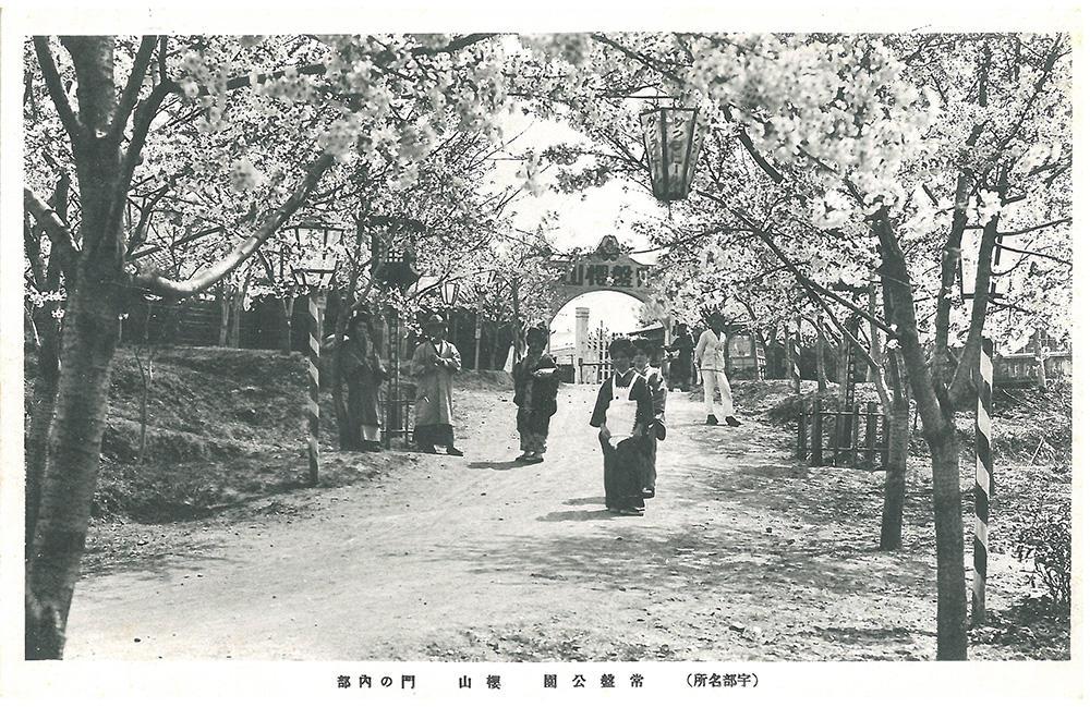 常盤公園 桜山 門の内部